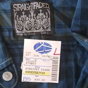 Straight Faded Shirts - 3/$15 SALE Long Sleeve Button Down Casual Shirt
